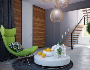 Лестница консольная в строгом стиле