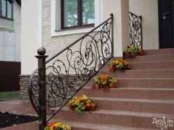 Кованое ограждение для лестницы