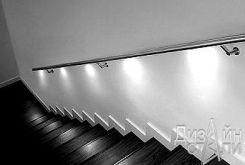 Стильная лестница с подсветкой
