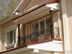 Фигурное ограждение для балкона
